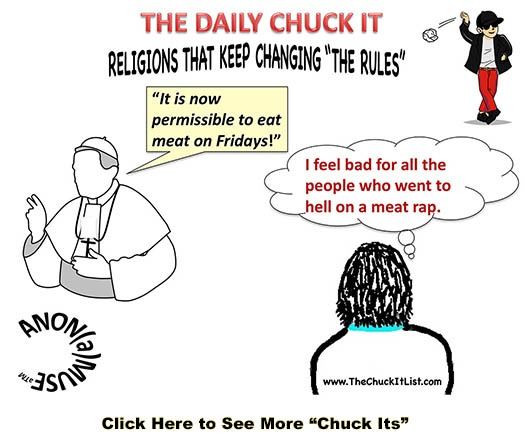 daily chuck it on religion slide